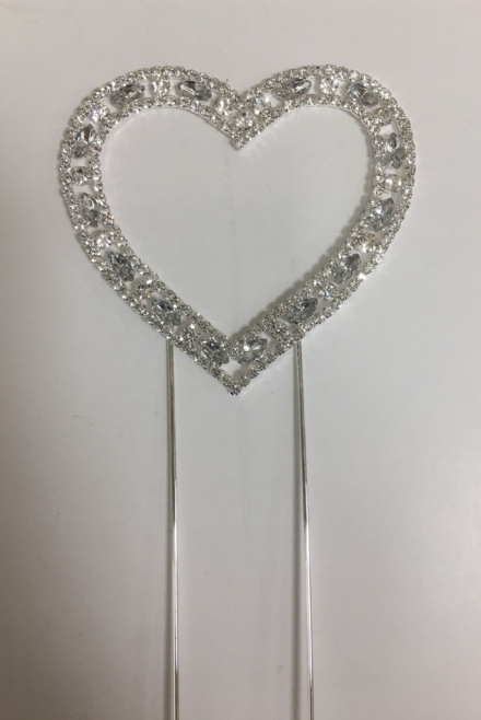 Heart Shape Diamante on Stem
